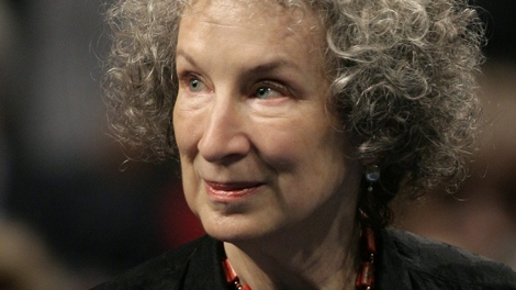 Margaret Atwood arrives for the 2008 Prince of Asturias award ceremony in Oviedo, northern Spain, Friday, Oct. 24, 2008. (AP / Daniel Ochoa de Olza)
