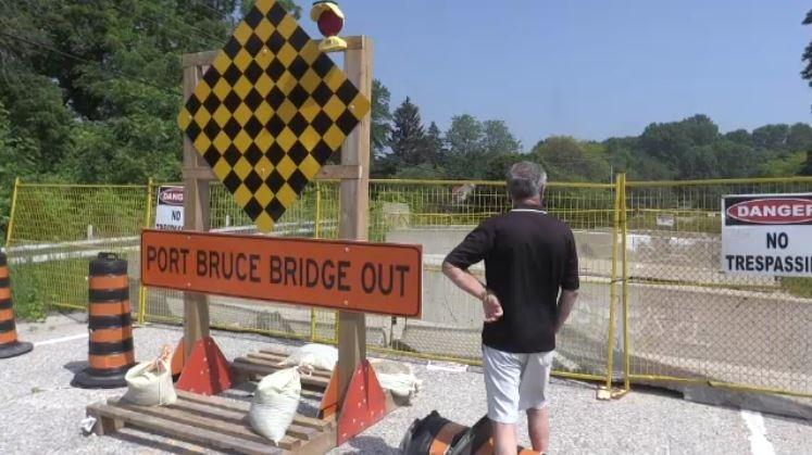 Port Bruce bridge out