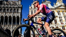 Ottawa-born cyclist Mike Woods rides in Belgium ah