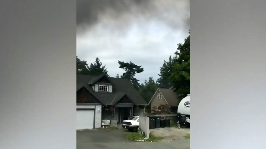 Firefighters in Esquimalt say the fire that erupted on the back porch of a house on Craigflower Road Friday afternoon was electrical in nature.