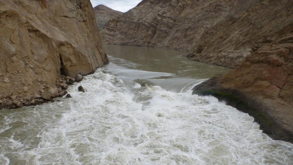 rock slide fraser river