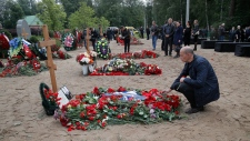 Russian navy soldiers funeral