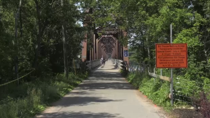 The 81-year-old bridge will be temporarily closed on Saturday for the event.