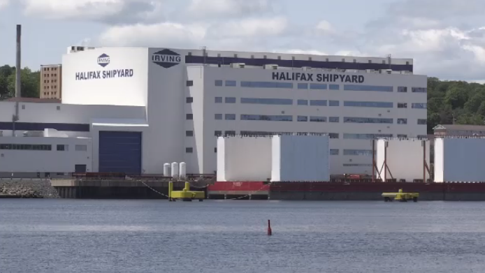 Halifax Regional Police and the Nova Scotia Department of Labour are investigating the incident. Irving Shipbuilding says it is also investigating.