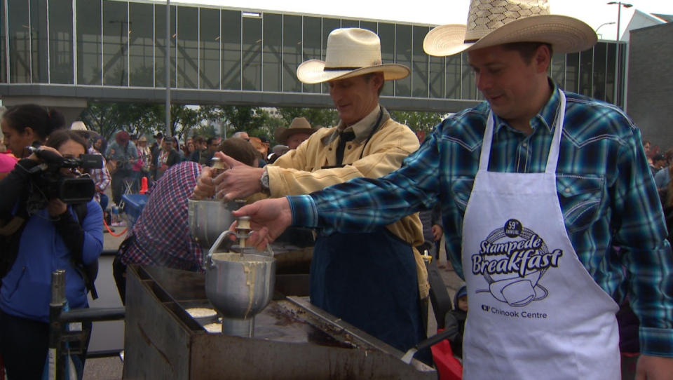Conservative party leader Andrew Scheer was at Chinook Centre on July 6, 2019 for the shopping centre's annual Stampede Breakfast.
