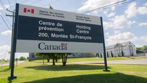 Four detainees at the Canada Border Services Agency immigrant holding centre in Laval, Que., are on a hunger strike amid the COVID-19 pandemic. (THE CANADIAN PRESS / Graham Hughes)
