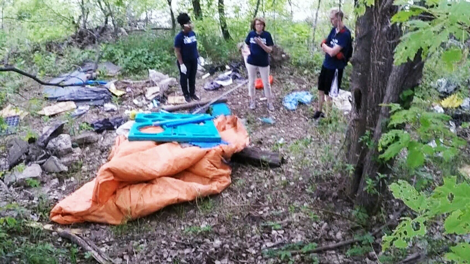 Outreach workers in Winnipeg say meth camps like this one are dotting the city's trails increasingly often.