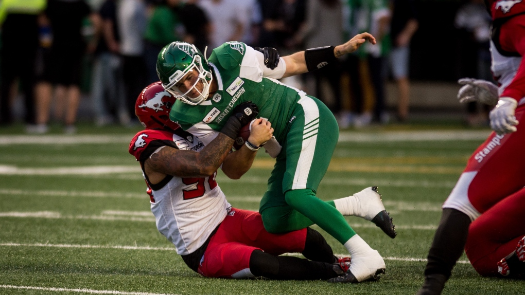 CFL fines Calgary Stampeder for unnecessary roughness on Cody Fajardo