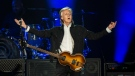 At the age of 77, most people are happy if they can get out of bed in the morning. Paul McCartney, on the other hand, is playing three-hour shows in front of crowds of 50,000. The former Beatle played a wide variety of songs from his more than 60-year catalogue at BC Place in Vancouver Saturday night. (Photos by Anil Sharma)