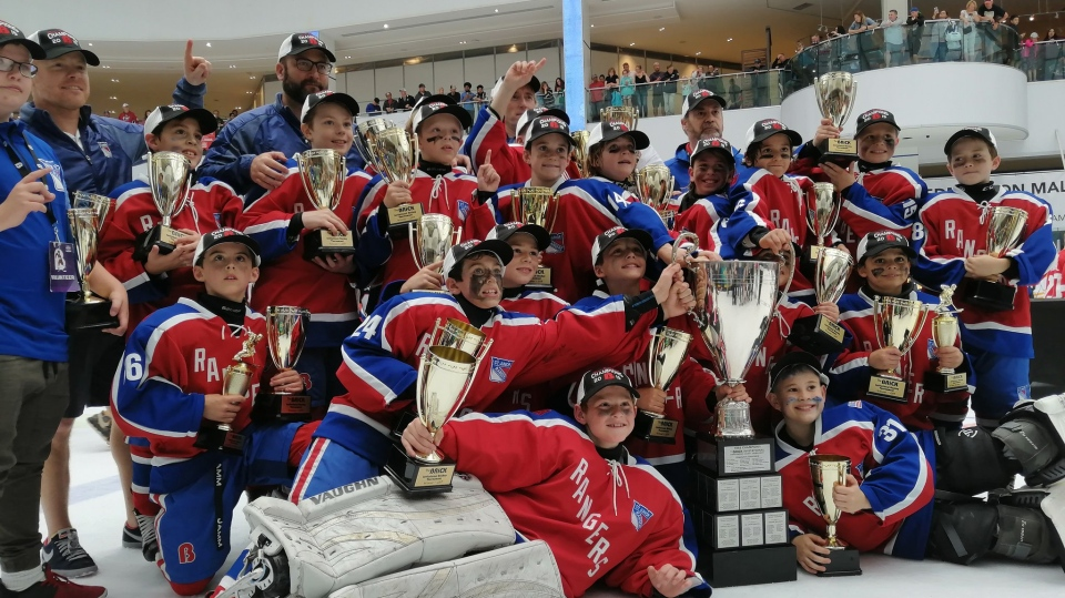 The Connecticut Junior Rangers Elite AAA Hockey Club won the 2019 Brick Invitational Hockey Tournament championship against Team Brick Alberta on Sunday in Edmonton. (Twitter / Brick Hockey)