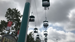 The WestJet Skyride offers the best view of the grounds as long as you aren't of the faint of heart.