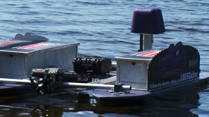 The UBERGaiter aquatic drone developed at Bishop's University is part of an effort to identify invasive plants in Quebec's lakes.