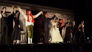 A performance by Rome's Opera Camion