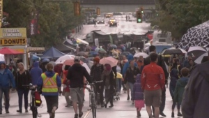 Pedestrians take to Commercial Drive for Car Free Day 2019 in this file photo.