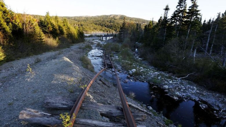 The train tracks at the abandoned Trinity Train Loop Amusement Park in Trinity, N.L., are shown on Tuesday, June 11, 2019. Paul Daly / THE CANADIAN PRESS