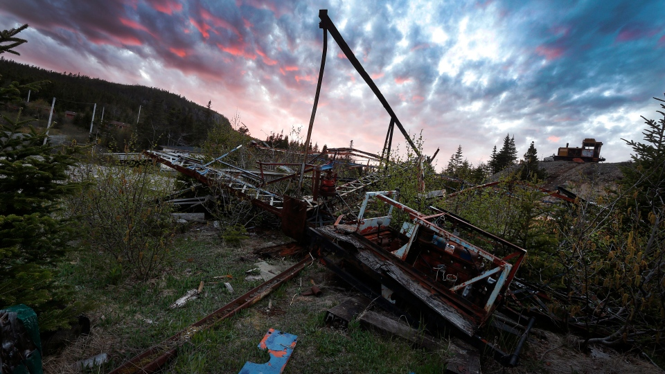 The Ferris wheel at the abandoned Trinity Train Loop Amusement Park in Trinity, N.L., is shown on Tuesday, June 11, 2019. (THE CANADIAN PRESS/Paul Daly)