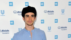 In this April 25, 2019, file photo, Cameron Boyce arrives at WE Day California at The Forum in Inglewood, Calif. (Photo by Richard Shotwell/Invision/AP, File)