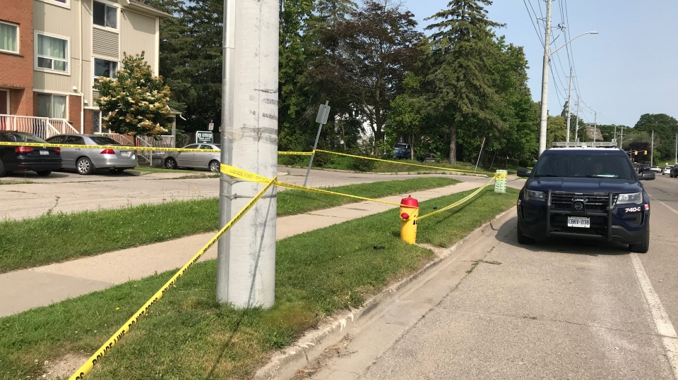 Police say they're investigating a disturbance that left a man in critical condition. (Stephanie Villella / CTV Kitchener)