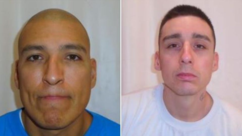 James Lee Busch (left) and Zachary Armitage escaped William Head Institution on Sunday. (Correctional Service of Canada)