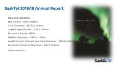 SaskTel Annual Report 2018/19