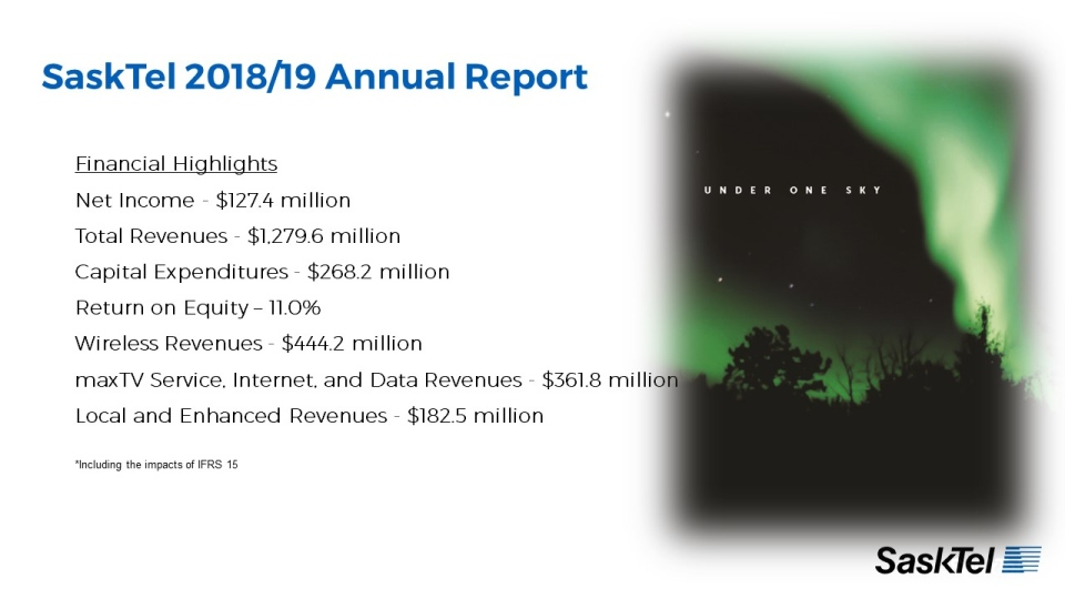 An infographic released by SaskTel highlighting revenue sources and costs from the last fiscal year. (Courtesy: SaskTel)