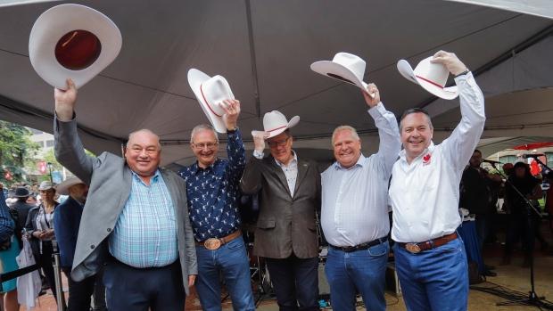 Five Premiers Flip Pancakes Talk Politics On Calgary
