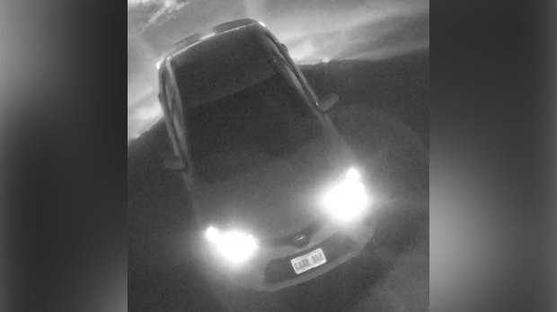 Police are shooting for this four-door Toyota with license plate CAXR-012 in connection to a shooting. (Source: Brantford Police Service)