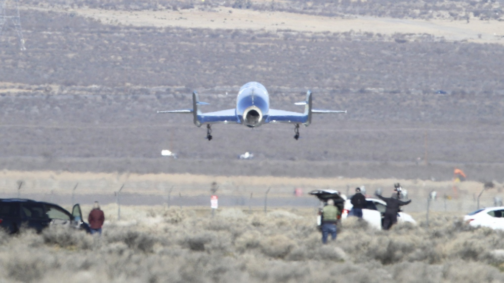 Virgin Galactic's VSS Unity lands
