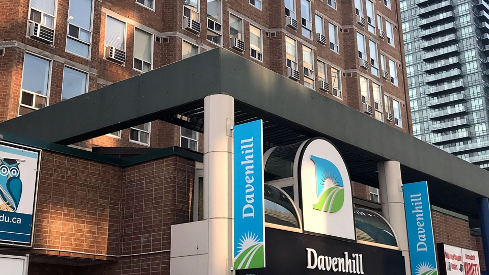 The exterior of Davenhill Senior Living on Yonge Street north of Davenport Road in Yorkville is seen. (CP24 / Brandon Gonez)