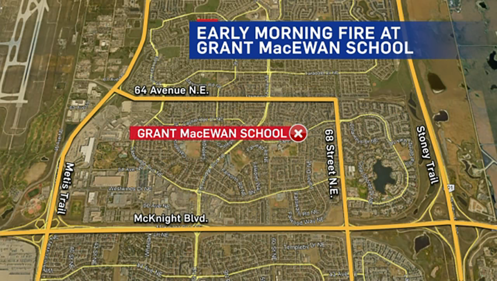 Fire at Grant McEwan School
