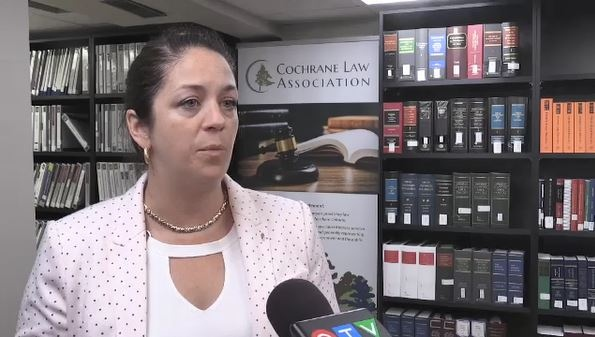 Sharon Sabourin of Cochrane Law Association (Lydia Chubak/CTV Northern Ontario)