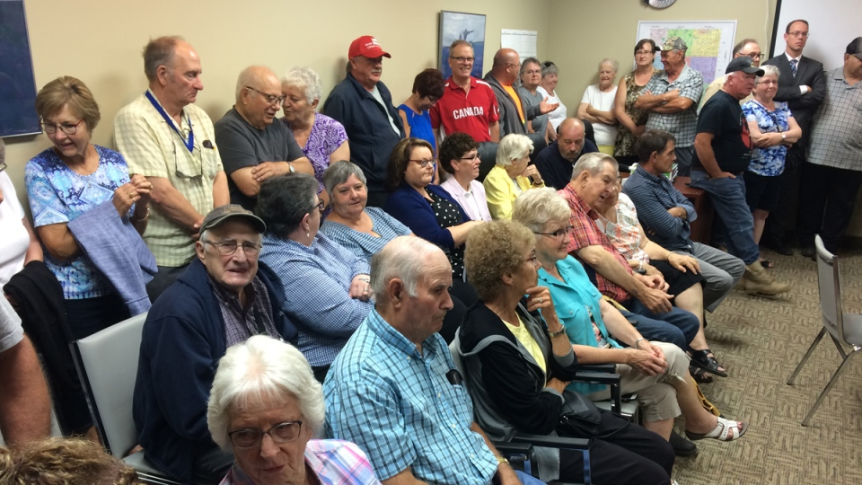 It was standing room only at the Norfolk Treherne government office Tuesday. CTV photo/Jamie Dowsett
