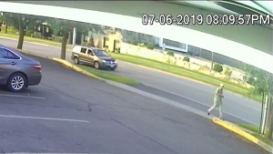 A still from a surveillance video