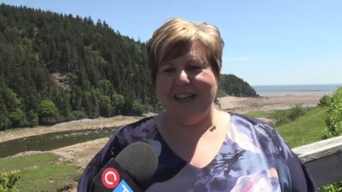 """""""Today's announcement here at the Parkway was about putting infrastructure in place to make sure that people have a greater experience when they come here and not just the drive,"""" said Fundy Royal MP Alaina Lockhart."""