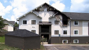 The unit caught fire shortly after 2 a.m. at Hickory Lake Apartments in the community of Antioch (CNN).