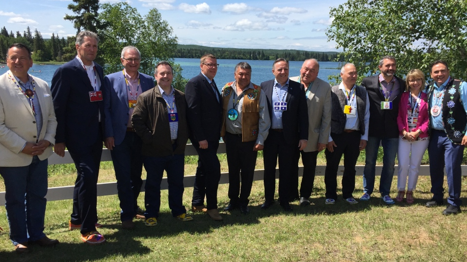 Premier Scott Moe, other premiers and First Nation leaders meet July 9, 2019. (Holly Giesbrecht/CTV Saskatoon)