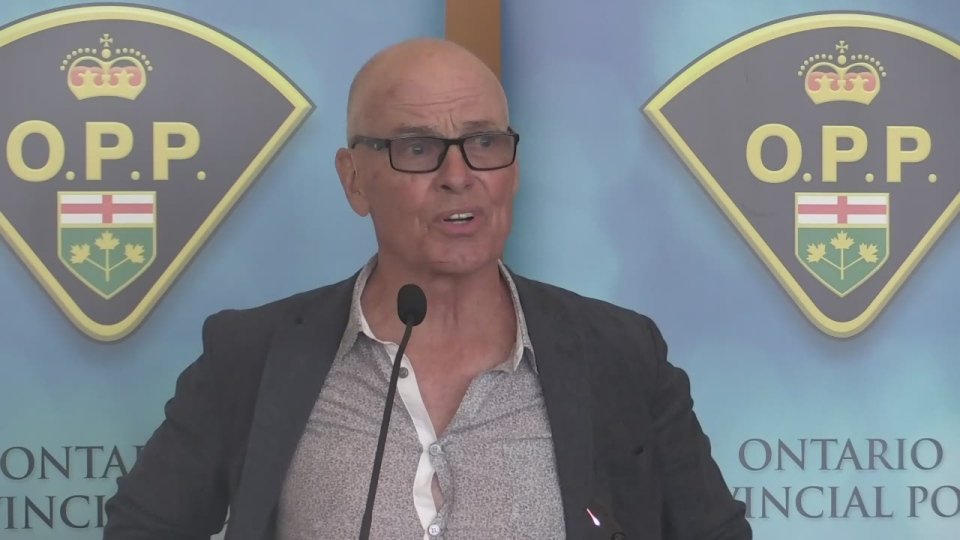 Former Toronto Maple Leaf Jim McKenny speaks about his struggles with mental illness in Orillia on Tues., July 9, 2019. (CTV News/Aileen Doyle)