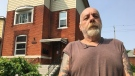 Randy Mitchell says he has nowhere else to go after being evicted from his home at 555 Dougall Ave. on July 9, 2019. ( Ricardo Veneza / CTV Windsor )