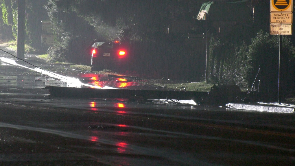 Wet weather leads to early morning crash in Langley