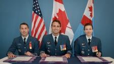 Major Lunn, Colonel Roberts, and Major Tinsley