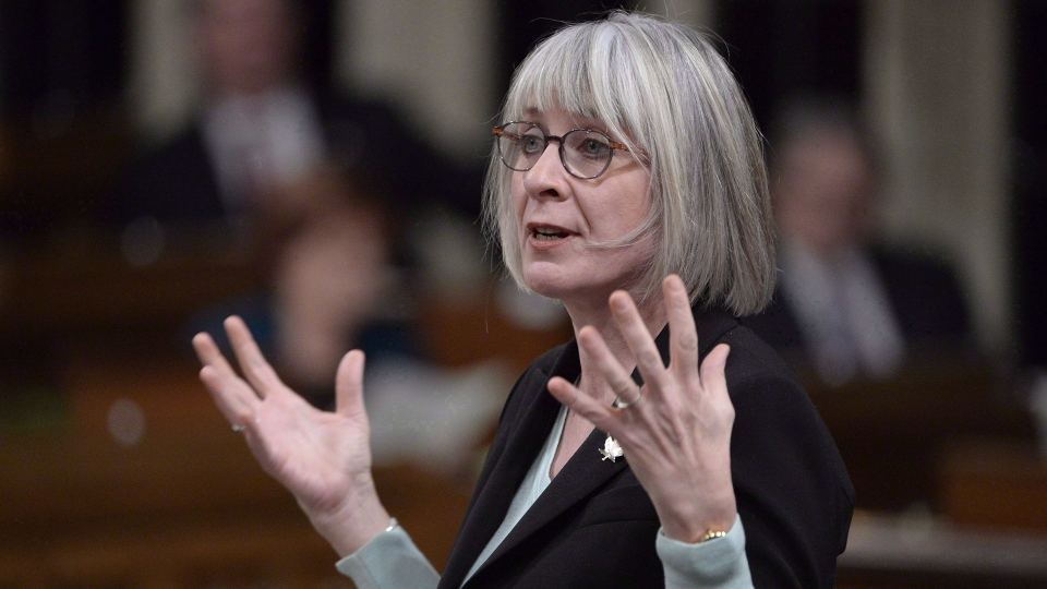 Employment, Workforce Development and Labour Minister Patricia Hajdu responds to a question during Question Period in the House of Commons Thursday November 22, 2018 in Ottawa. Myriad federal programs aimed at helping young people get a foothold in the job market are being merged as part of a revamped youth employment strategy. THE CANADIAN PRESS/Adrian Wyld