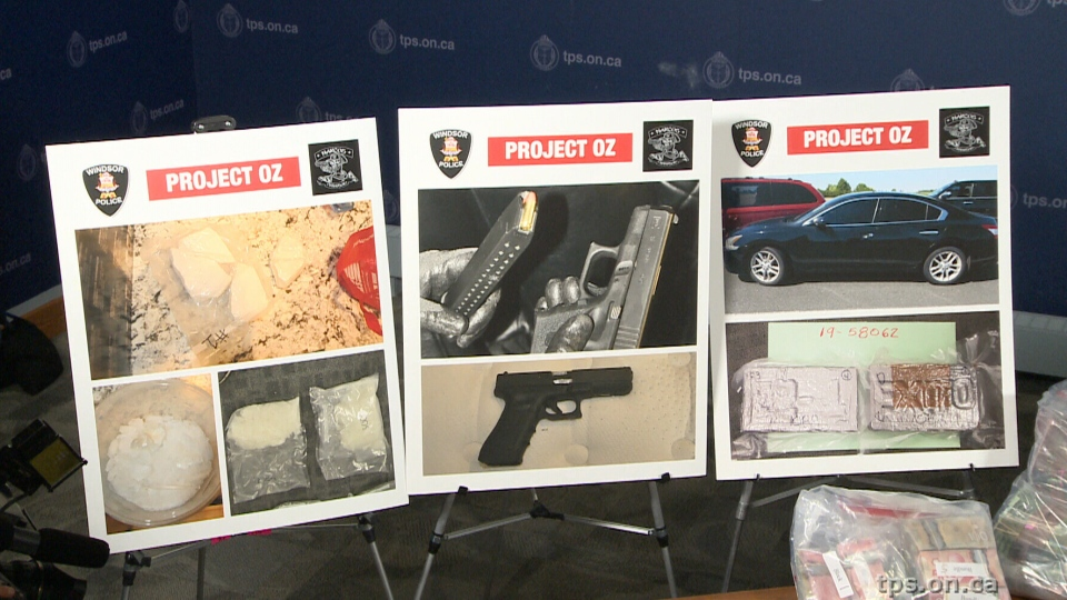 Organized crime bust in Windsor, Toronto nets over $5 4M in drugs