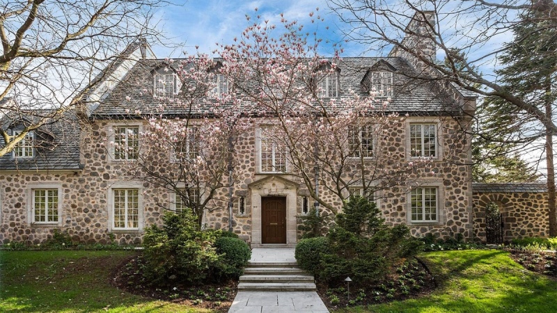 A home in the affluent Montreal suburb of Westmount is shown in a photo from a listing posted on Sotheby's International Realty.