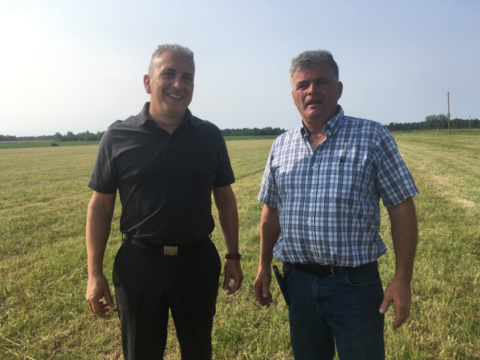 Organizers with International Plowing Match, Neil Fox on left and Dan Olivier on right. (Alana Everson/CTV Northern Ontario)