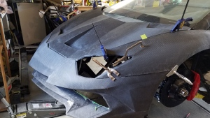 Sterling Backus built this lookalike of the Lamborghini Aventador from scratch using 3D-printed parts. (Sterling Backus)