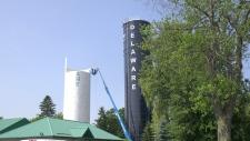 Delaware water tower destruction