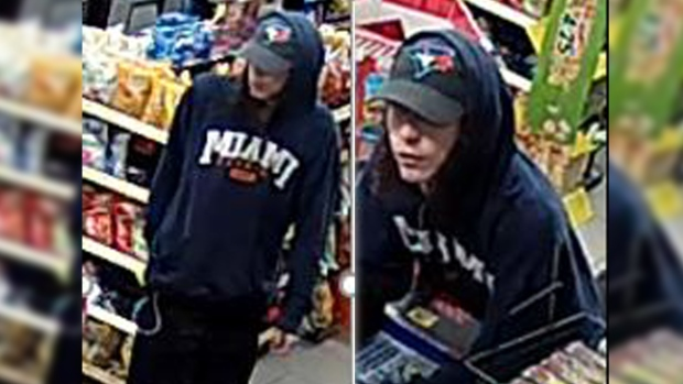 A suspect in a convenience store robbery