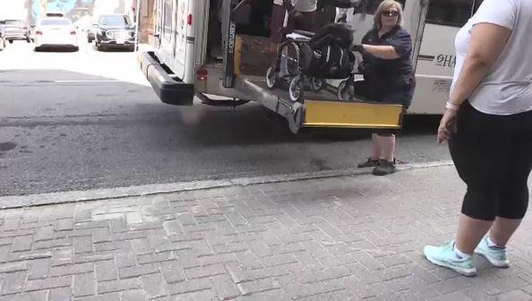 Sudbury Handi-Transit current wheelchair lift (Ian Campbell/CTV Northern Ontario)