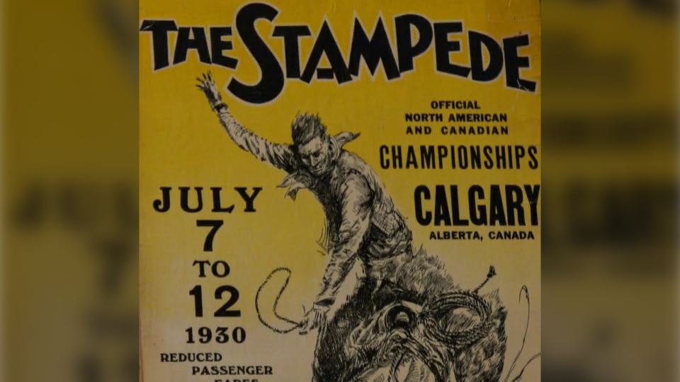 The poster was hanging in a Calgary basement for decades.
