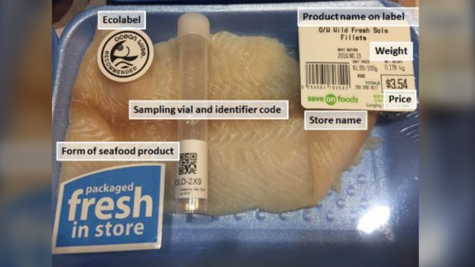 Consumers will need to take a picture of their seafood purchase in the original packaging before sampling. (LifeScanner.net)